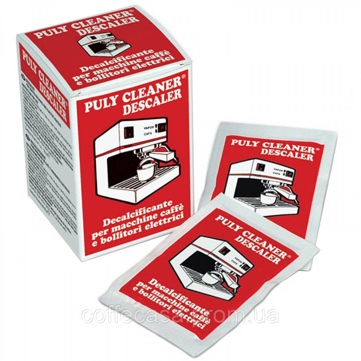 Порошок от накипи для чистки домашних кофеварок и суперавтоматов Puly Cleaner Descaler