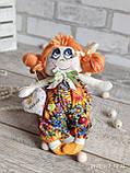 """""""Дівчинка-ангел"""" текстильна ручної роботи, сердечко із побажаннями, 22см., 180/150 (цена за 1 шт.+30гр.), фото 4"""