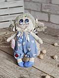 """""""Дівчинка-ангел"""" текстильна ручної роботи, сердечко із побажаннями, 22см., 180/150 (цена за 1 шт.+30гр.), фото 5"""