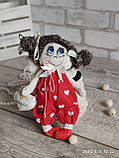 """""""Дівчинка-ангел"""" текстильна ручної роботи, сердечко із побажаннями, 22см., 180/150 (цена за 1 шт.+30гр.), фото 7"""