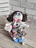 """""""Дівчинка-ангел"""" текстильна ручної роботи, сердечко із побажаннями, 22см., 180/150 (цена за 1 шт.+30гр.), фото 8"""