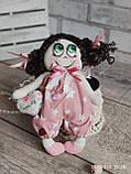 """""""Дівчинка-ангел"""" текстильна ручної роботи, сердечко із побажаннями, 22см., 180/150 (цена за 1 шт.+30гр.), фото 9"""