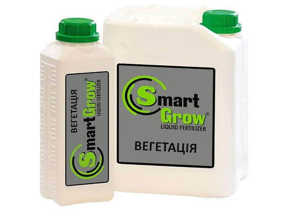 Добриво SmartGrow ВЕГЕТАЦІЯ з гуматом калію і фульвокислотами Смарт Гроу (1 л), фото 2