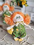 """""""Дівчинка-ангел"""" текстильна ручної роботи, сердечко із побажаннями, 22см., 180/150 (цена за 1 шт.+30гр.), фото 3"""