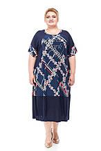 Летнее женское платье размера плюс Элен 5 цветов (64-74)