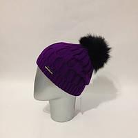 Женская вязаная шапка в расцветках Nory Y-120720