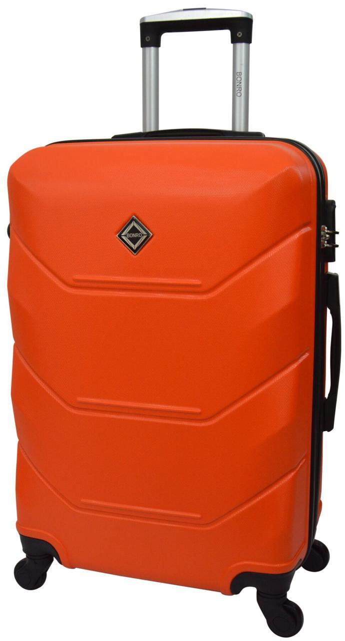 Дорожный чемодан на 4 колесах Bonro оранжевого цвета с кодовым замком среднего размера