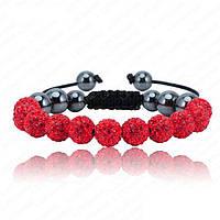Браслет женский Шамбала SHAF0003 red (красный)
