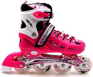 Роликовые коньки Scale Sports 34-37 Pink 1516215648-M, КОД: 1198019