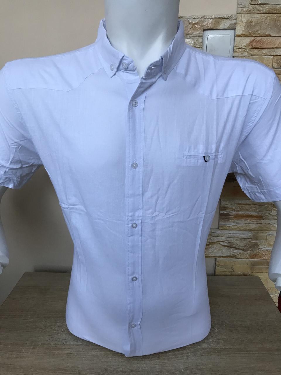 Батальная льняная рубашка с коротким рукавом G-port