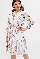 Шикарное шифоновое платье с цветочным принтом