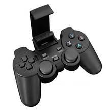 Беспроводной геймпад для Android Phone/PC/PS3/TV Box с креплением для телефона и OTG переходником Черный