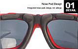 Спортивные очки Artorign Черный+Красный, фото 3