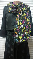 Разноцветный  шарф палантин  жатка