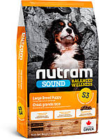Nutram S3 Nutram Sound Balanced Wellness Natural Large Breed Puppy Food - сухой корм для щенков крупных пород