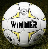 Мяч футбольный Winner Diadmond №5, PU, белый (ФС W-DIAMOND)