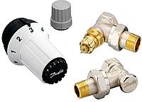"""Комплект для подкл тройной RAS-C+RA-FN+RLV-S 1/2"""" угловой без преднастройки Danfoss"""