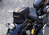 Прочная мото сумка на хвост (заднее сидение) RR9018 20х30х(20-25)см, фото 3