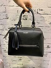 Женская кожаная сумка Galanty на длинном съёмном ремешке Черный