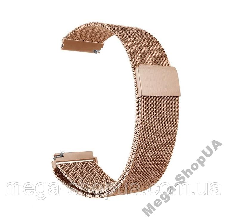 Ремешок металлический 24 мм Milanese Magnetic миланская петля для часов шириной Золотистый