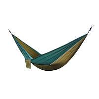 🔝Гамак подвесной для дачи, цвет хаки+темно-зеленый , туристический переносной гамак | 🎁%🚚, фото 1