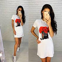 Тренд лета 2021 платье белое футболка свободное с рисунком брендов, фото 3