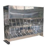 Кормушки для поросят (от 10 - 50 кг) для доращивания 8 секции (нержавейка)