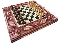 Эксклюзивные шахматы-нарды ручной работы,петли из нержавеющей стали с гравировкой+железные вставки