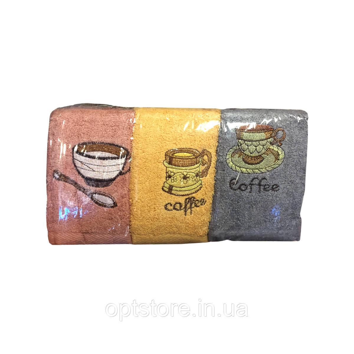 Полотенце кухонное махровое кофе, 35*70 см