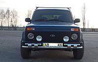 Защита переднего бампера (передний ус SHARK) Нива 2121 1978+