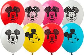Латексные шары 12'' (100 шт) ТМ SHOW Микки и Минни, (30 см)