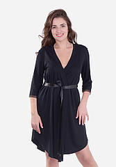 Халат женский стильный на запах с кружевом размер S-XL, купить оптом со склада 7км Одесса
