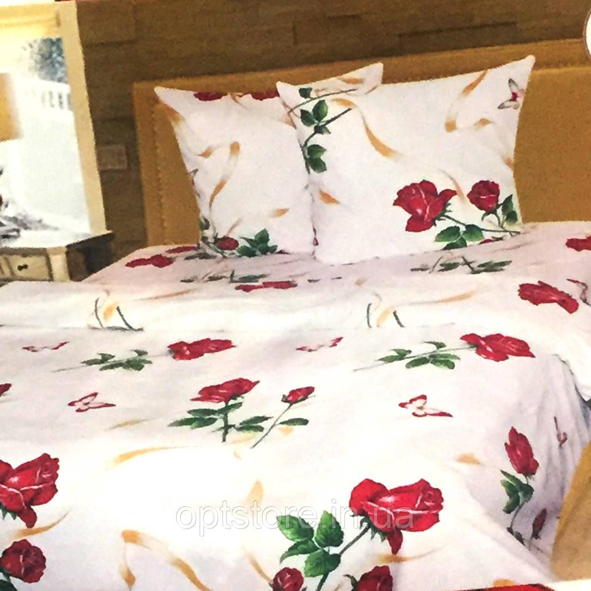 """""""троянди"""" комплект постільної білизни євро розмір 200*215 см 100% бавовна Tirotex Тирасполь"""