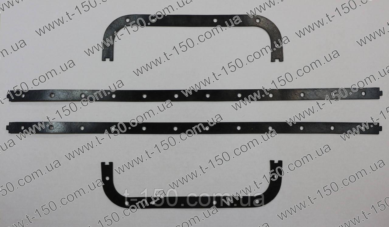 Прокладка поддона картера ЯМЗ-238 резина-пробка раздельная(238-1009040-Д)
