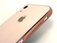 Чехол на iPhone XR накладка бампер противоударный glass Case