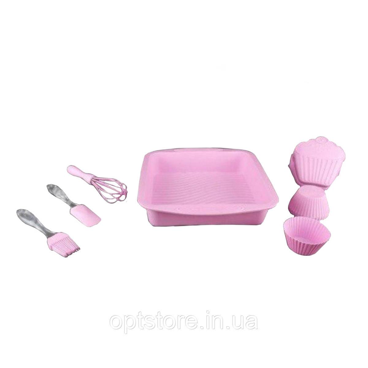 Набор силиконовый лопатка,венчик,кисть,прихватка,формы для приготовления пищи