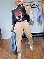 Джоггеры женские стильные повседневные с карманами на манжете разные цвета Bva114