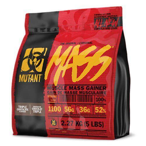 Гейнер, Mutant Mass Gainer 2270 грамм, Тройной шоколад
