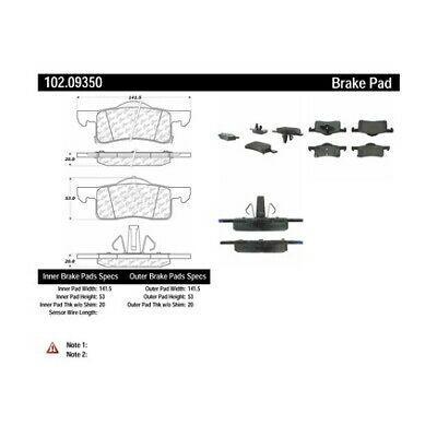 Колодки тормозные задние CENTRIC PARTS 10209350 Ford Expedition Lincoln Navigator