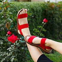 Червоні босоніжки, шльопанці тапки жіночі сандалі на резинці червоні босоніжки шльопанці тапки сандалі, фото 3