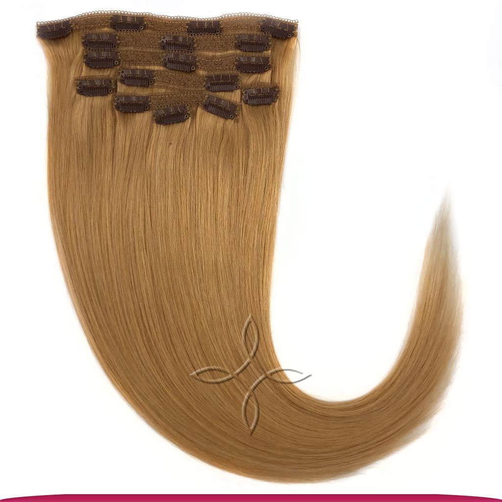 Натуральные Европейские Волосы на Заколках 50 см 100 грамм, Блонд №27