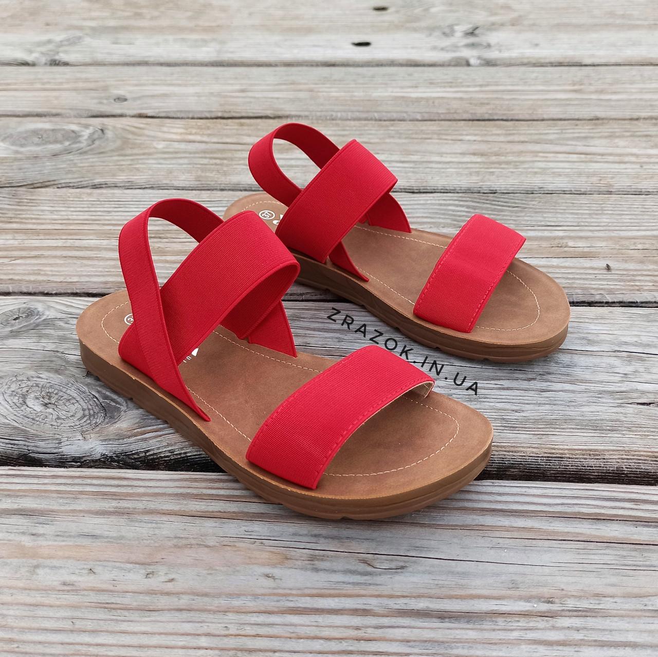 Червоні босоніжки, шльопанці тапки жіночі сандалі на резинці червоні босоніжки шльопанці тапки сандалі