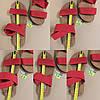 Червоні босоніжки, шльопанці тапки жіночі сандалі на резинці червоні босоніжки шльопанці тапки сандалі, фото 6