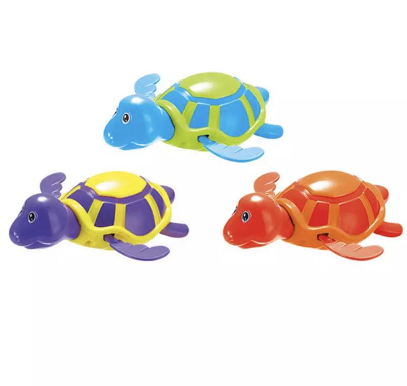 Водоплавающая заводная игрушка для ванной ЧЕРЕПАШКА (555)