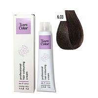 Крем-фарба для волосся Tiare Color 60 мл 6.03 Warm dark blonde