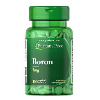 Puritan's Pride Boron 3 mg 100 таб