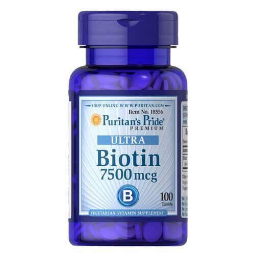 Puritan's Pride Biotin 7500 mcg 100 таб