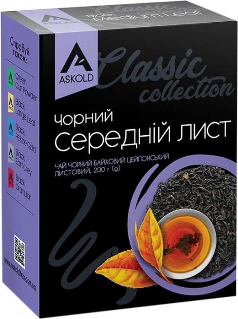 Среднелистовой чай Askold черный байховый цейлонский 200 грамм