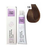 Крем-фарба для волосся Tiare Color 60 мл 7.03 Warm blonde