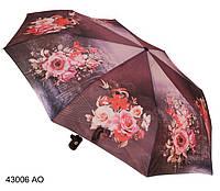 Зонт женский полуавтомат с цветами, фото 1